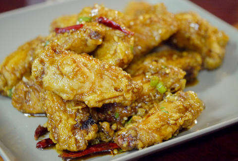 Dry Fried Chicken Wings at San Tung Chinese Restaurant