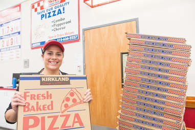 costco pizza box and manager