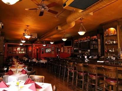 Mart Anthony's Italian Restaurant interior bar tables chicago thrillist