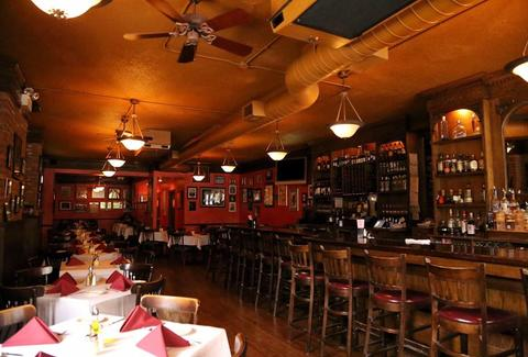Mart Anthony's Italian Restaurant interior bar tables chicago thrillist