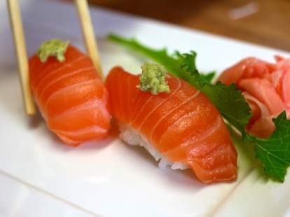Salmon Nigiri at Ryoko's Japanese Restaurant & Bar
