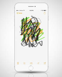 notes app screenshot in iphone 6