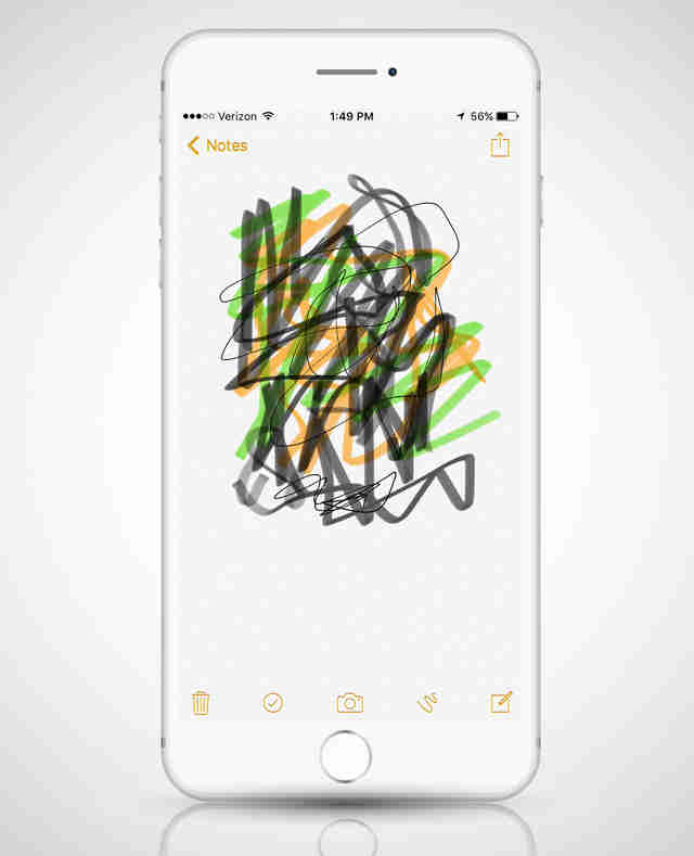 notes app screenshot in iphone 6
