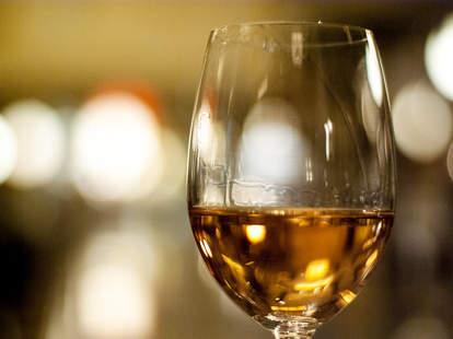 White Wine at Wood Tavern