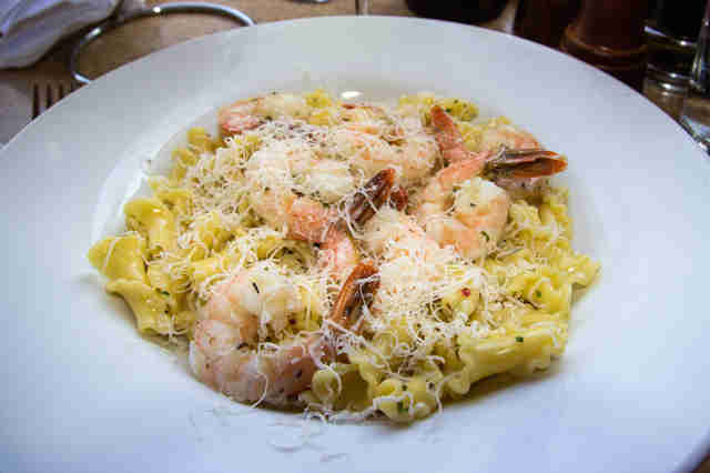 Shrimp Scampi with Campanelle, Wine Country Trattoria Disneyland