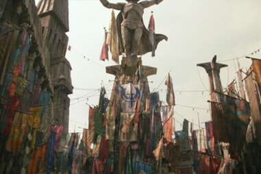 maz kanata's castle flags banners - star wars