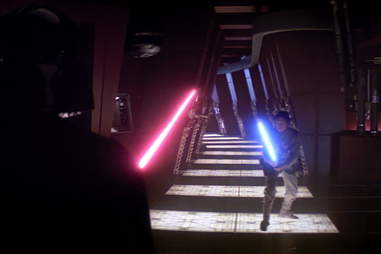 luke and darth vader duel - empire strikes back