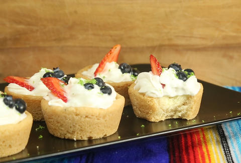 Mini Margarita Key Lime Cheesecakes