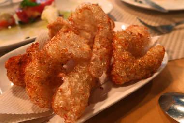 pork cracklins on plate