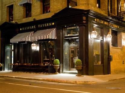 Wayfare Tavern exterior san fran thrillist dark wood