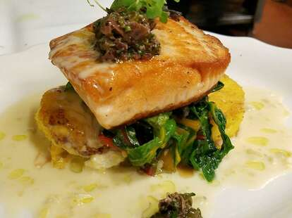 Salmon at Sam's Grill and Seafood Restaurant