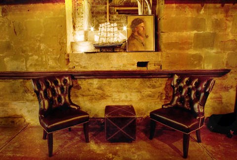 Interior of Seats at Taverna Aventine
