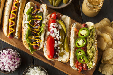 hot dogs, gourmet hot dogs