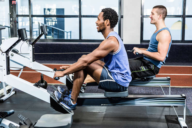 rowing, rowing machine, rowing workout