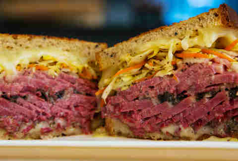 Corned Beef Sandwich at Shorty Goldstein's