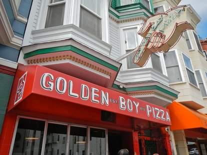 golden boy pizza san francisco thrillist sign red outside
