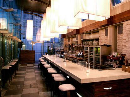 Interior of Bar at B Restaurant and Bar
