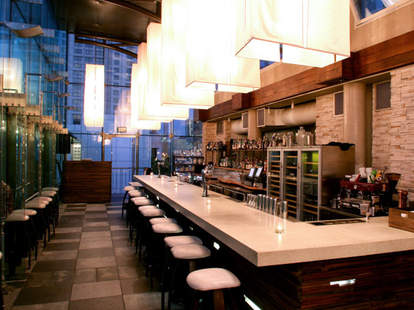 Interior of Bar at B Restaurant and Bar