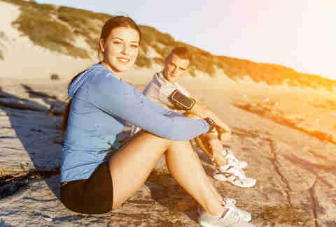 happy couple exercising together exercise benefits