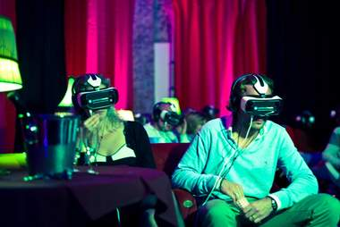 group of people in VR headsets