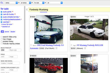 Craigslist is a daily grind in the search for a classic
