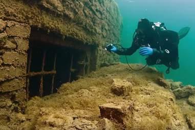 Exploring Rummu Underwater Prison