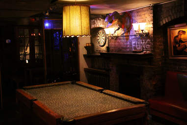 Pool table at 169 Bar in New York