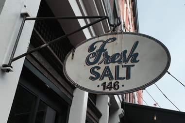 Fresh Salt sign in Financial District