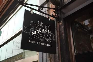 sign at Mess Hall