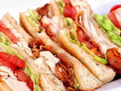Dagwood and Scoops club sandwich