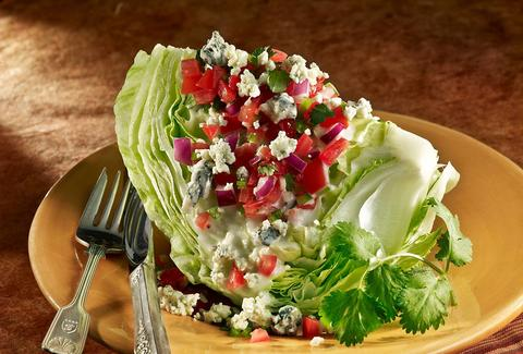 wedge salad at Blue Fog Market