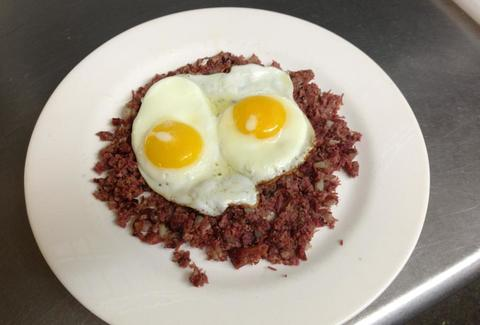 Corned Beef Hash & Eggs at Greenhouse Cafe