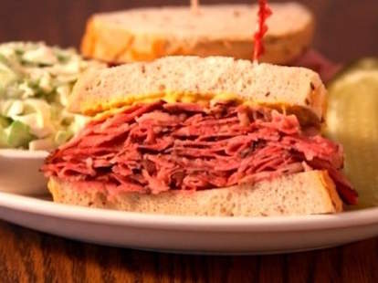 Greenblatt's Deli sandwich meat los angeles thrillist