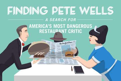 Waiters serving Pete Wells Dinner