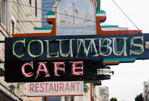 Columbus Cafe sign