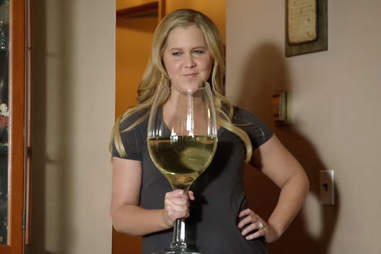 Amy Schumer with wine glass