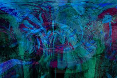 dark blue green psychedelic design
