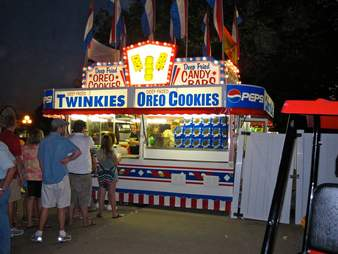 fried food stand at Iowa State Fair