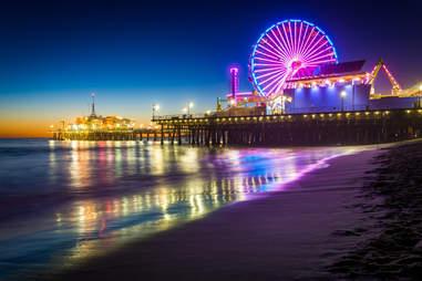 Santa Monica Pier in Los Angeles