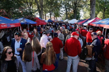 Tailgating at the Grove at an Ole Miss Football Game