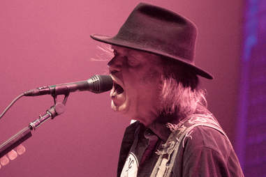 neil young live in concert