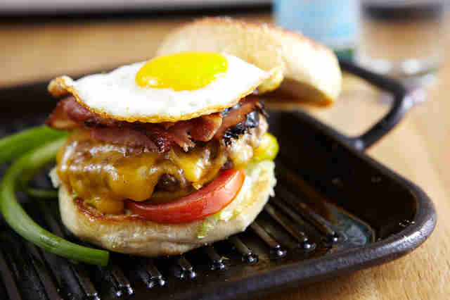 J Nichols Kitchen, breakfast burger