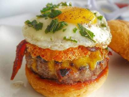 SBE burger egg thrillist los angeles
