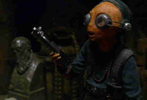 maz kanata basement -star wars force awakens
