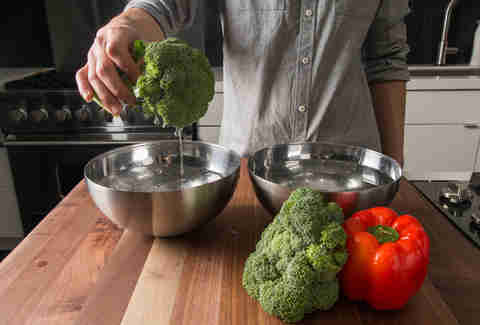 how to wash vegetables kitchen skills