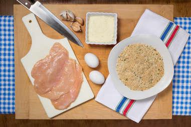 chicken cutlet preparation kitchen skills