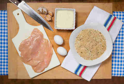 chicken cutlet preparation kitchen skills