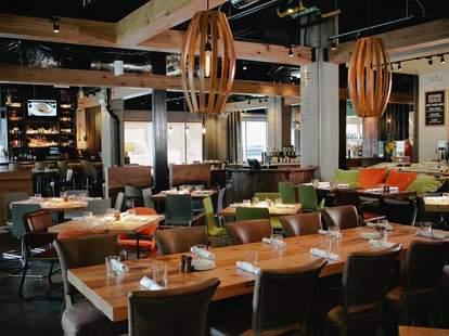 Beatrix interior wood panels tables chicago thrillist