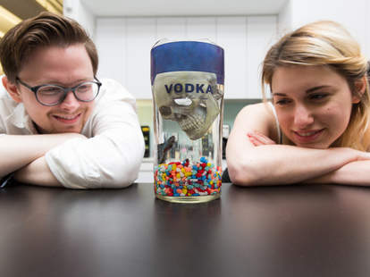 Fish Tank Alcohol Bottle