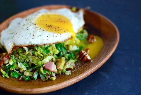 HASH egg over chopped avocado
